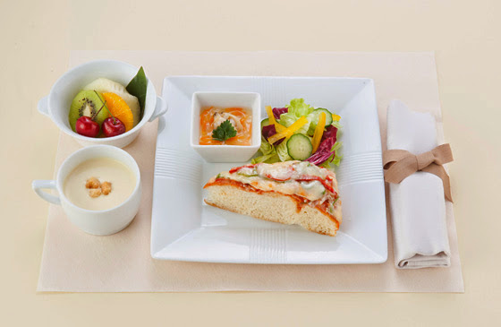JAL Domestic First Class early June breakfast menu.