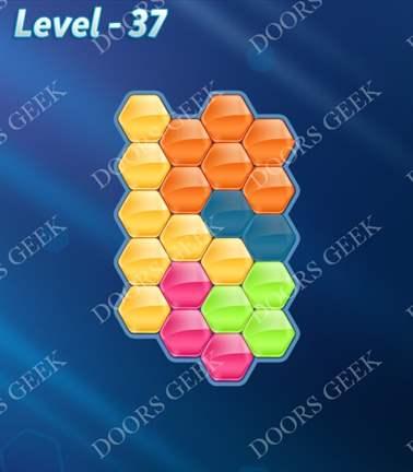 Block! Hexa Puzzle [5 Mania] Level 37 Solution, Cheats, Walkthrough for android, iphone, ipad, ipod