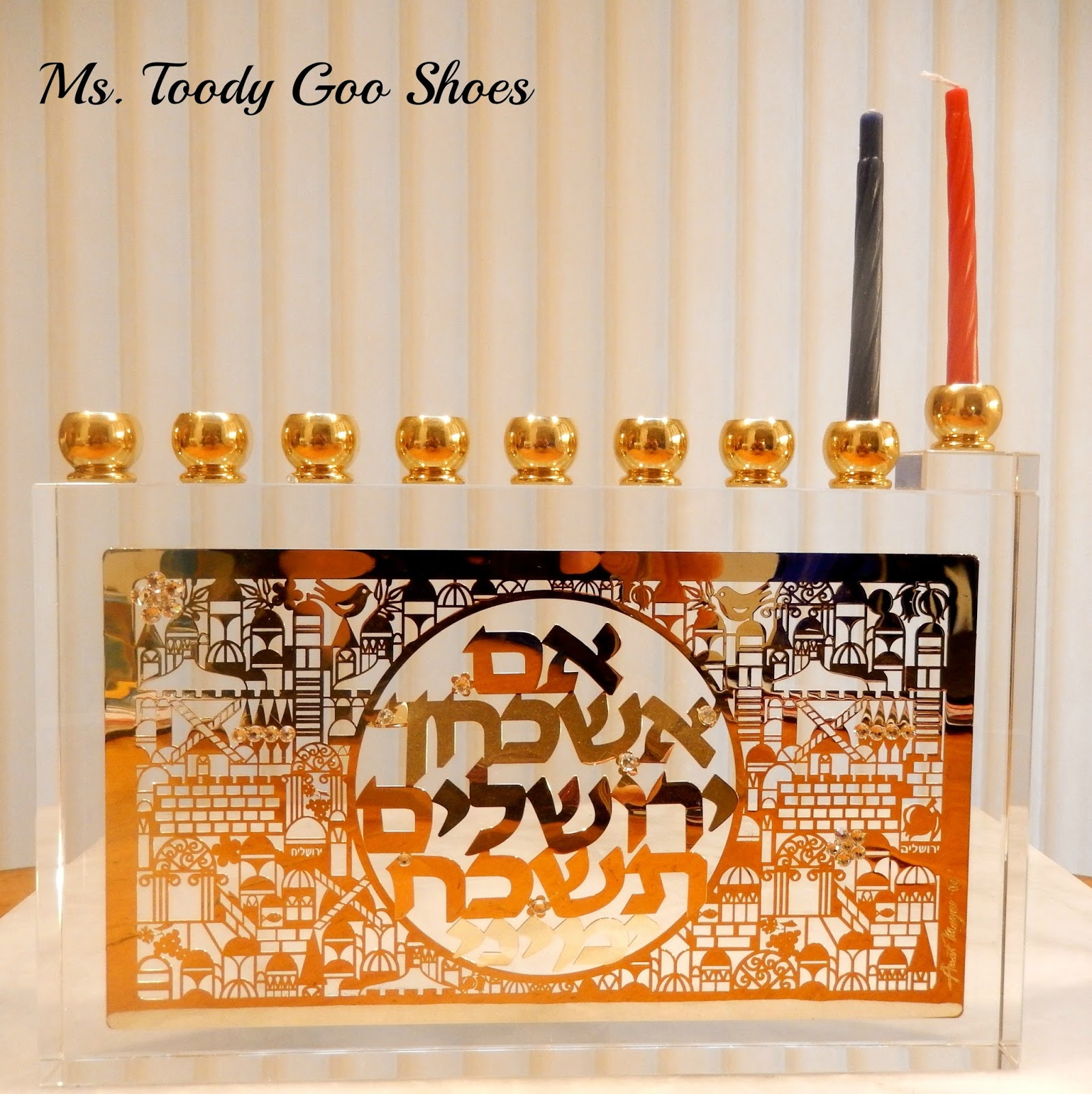 A Menorah and 2000 Year-old Pottery  --- Ms. Toody Goo Shoes