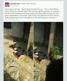 Arsenal Fan 'Boy-Yo' Murdered In Ogoni, Rivers State By Gunmen