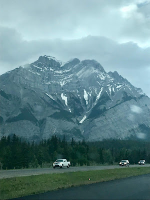 Rocky mountains in Canmore Alberta