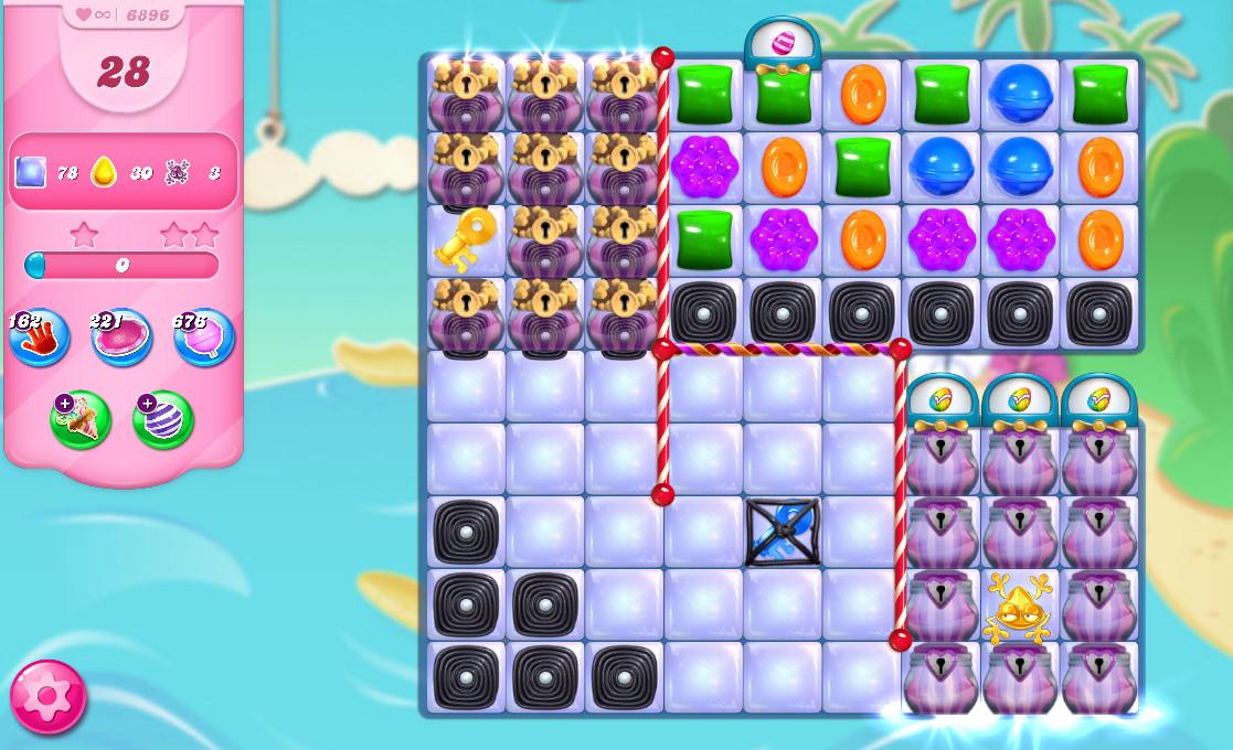Candy Crush Saga level 6896