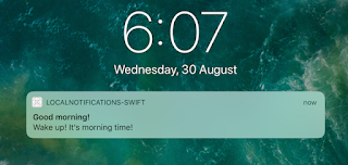 Notification center with LOCAL NOTIFICATION
