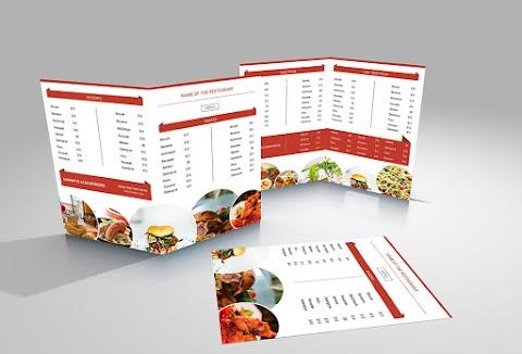 Plantilla para crear menú de comida editable en Photoshop