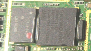 pasted BGA ICs punched by machines on a circuit and fixed the corners by glue