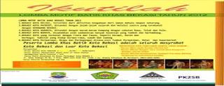 Lomba Motif Batik Khas Bekasi Tahun 2012