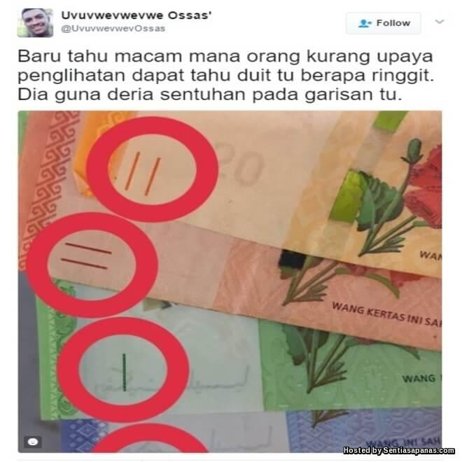 Rahsia Garisan Kecil Pada Wang Kertas Malaysia