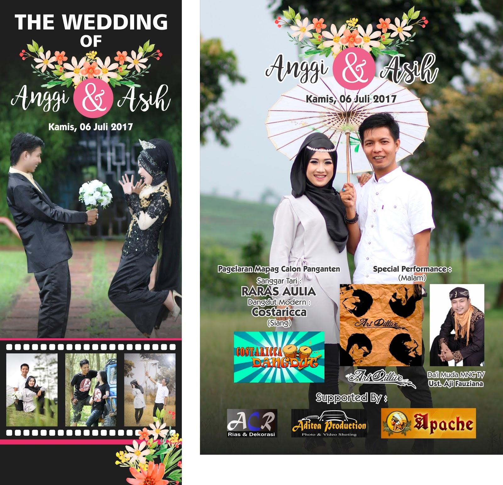 Cetak X Banner Pernikahan Anggi Asih