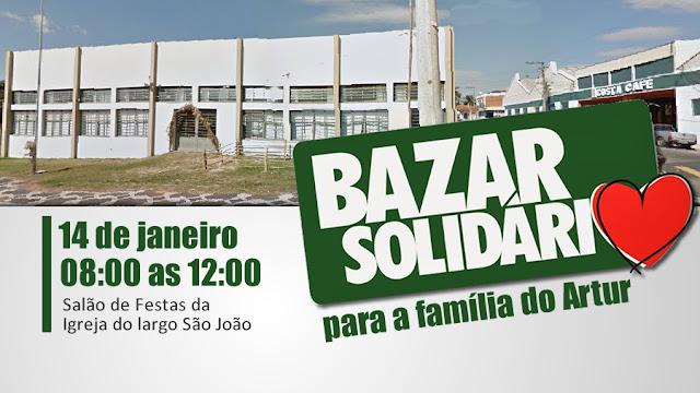 Grupo Águias Douradas promove Bazar Solidário em prol da família do Artur