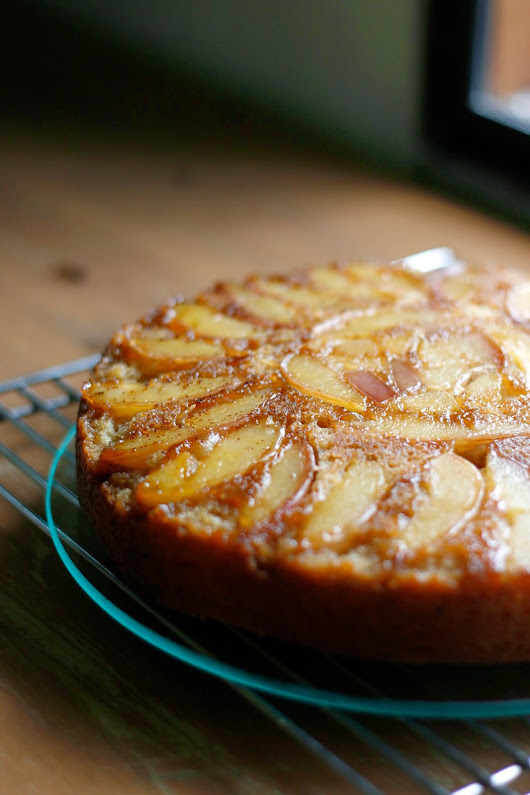 Brown Butter Nectarine Upside-Down Cake