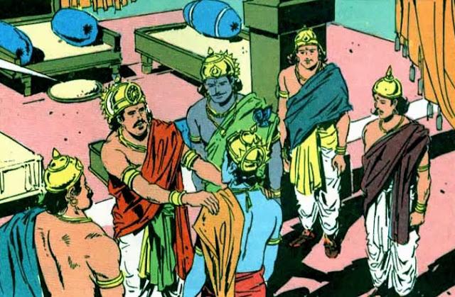Yudhishthira talking to Krishna