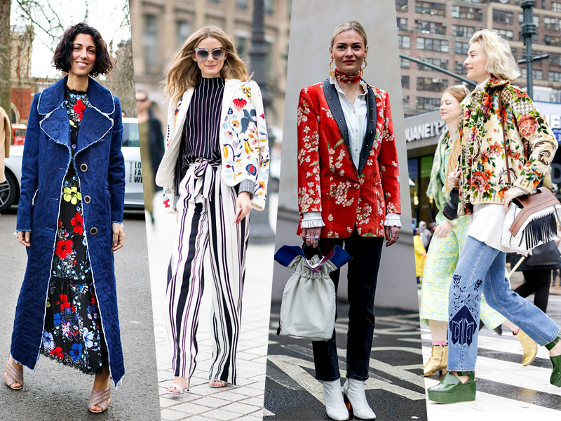 floral street style fall winter