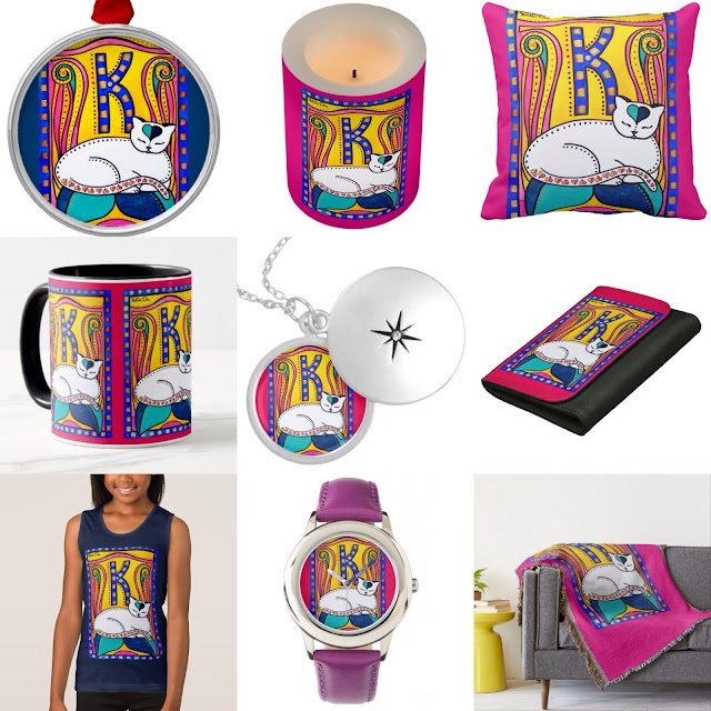 Peace and Love Collection by Cats of Karavella. Cat designs for cat lovers.