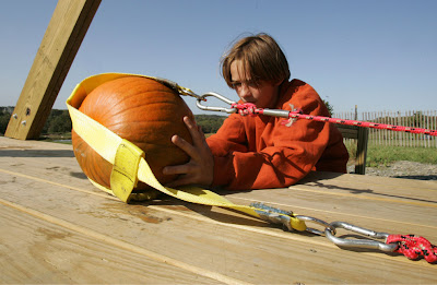 Time to load your pumpkin in the trebuchet.