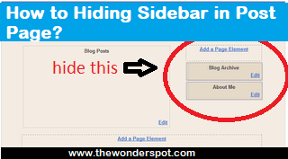 How to Hiding Sidebar in Post Page?