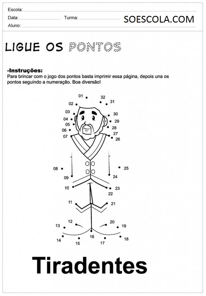 Atividades Sobre tiradentes para imprimir  Atividades Sobre tiradentes para imprimir, confira algumas atividades escolares sobre o tiradentes