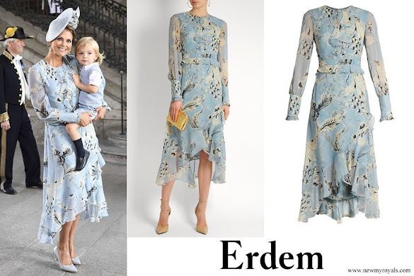 Princess Madeleine wore Erdem Meg silk-voile dress
