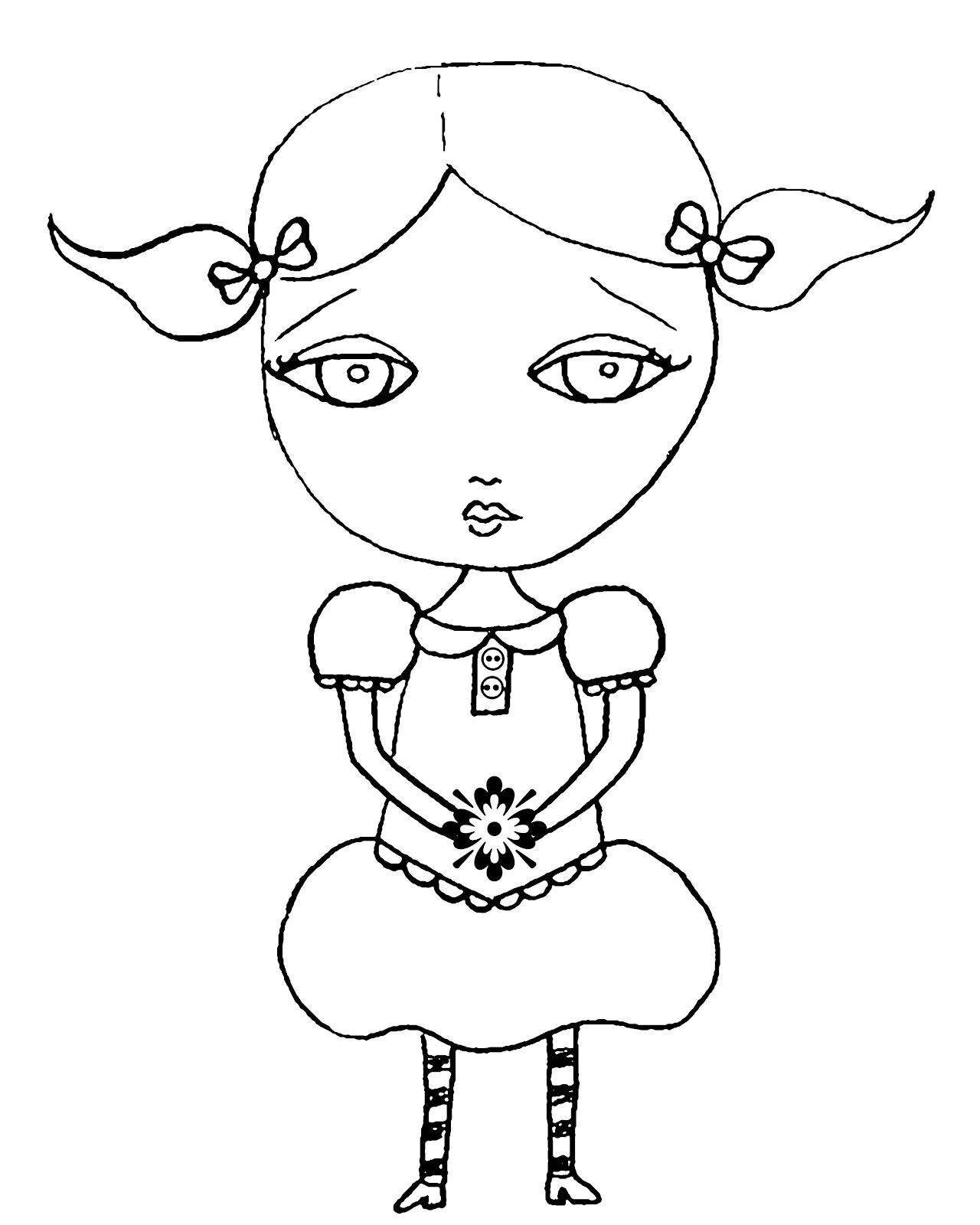 Pez-A-Doodle Designs: mixed media flower girl