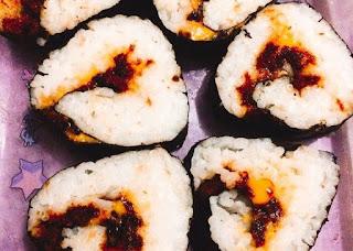 cara membuat sushi abon