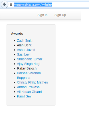 Listed In CoinBase White Hat Award List !Ali hasan Ghauri