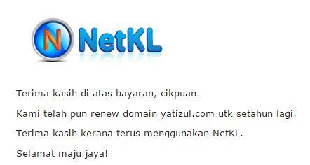 Renew Domain Yatizul Untuk Tahun Ketiga