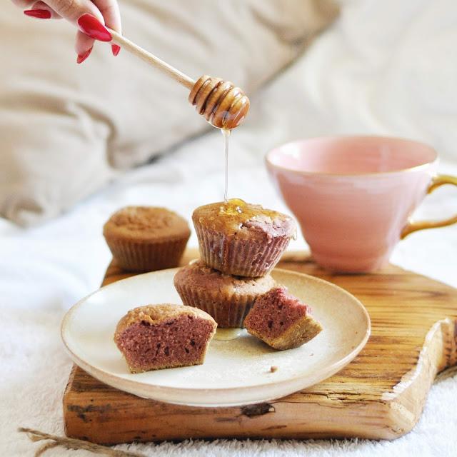 Różowe babeczki toffie | naturalnie różowe, bez cukru |