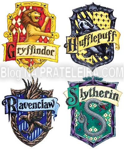 na prateleira da jaque casas de hogwarts x personagens da tv na prateleira da jaque
