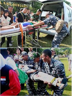 Hasil gambar untuk TNI dan US Navy Gelar Latihan Penanggulangan Bencana Aspek Medis