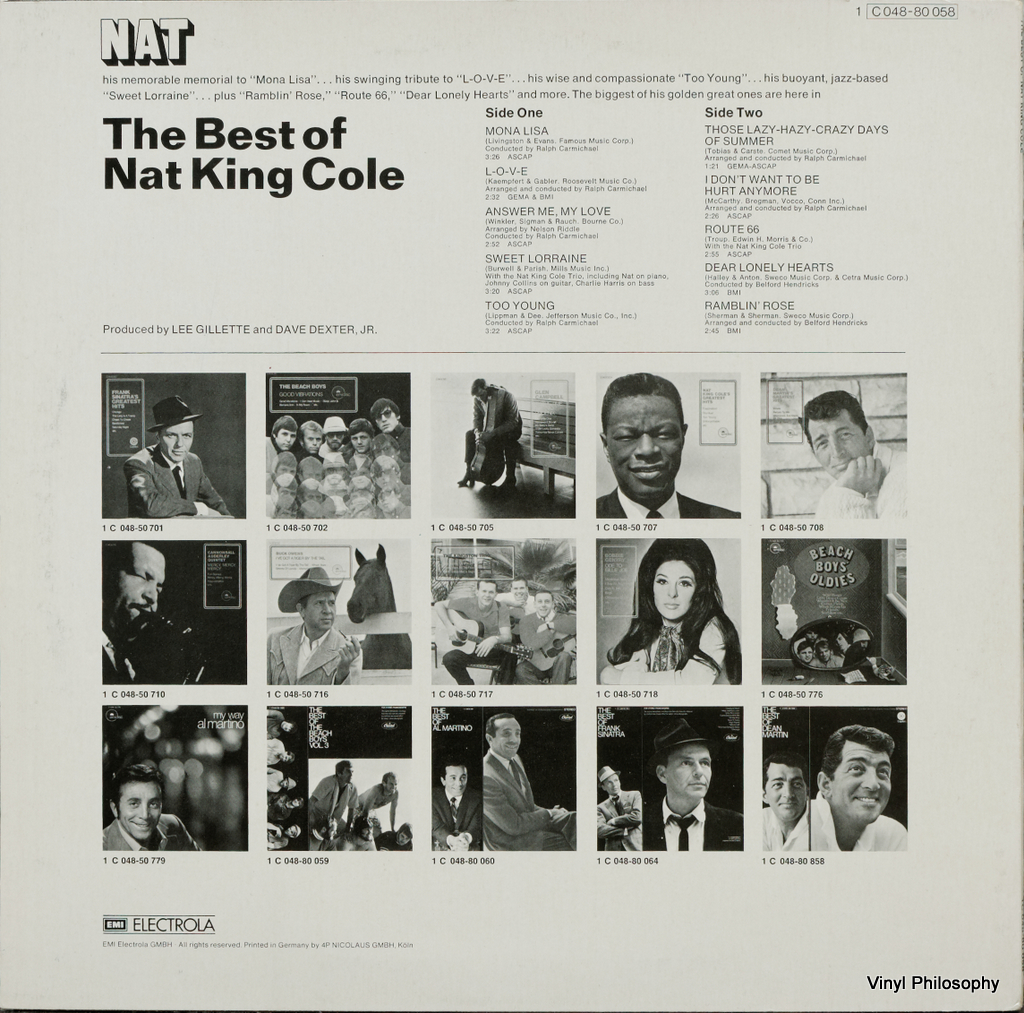 Vinyl Philosophy Vinyl Feature The Best Of Nat King Cole