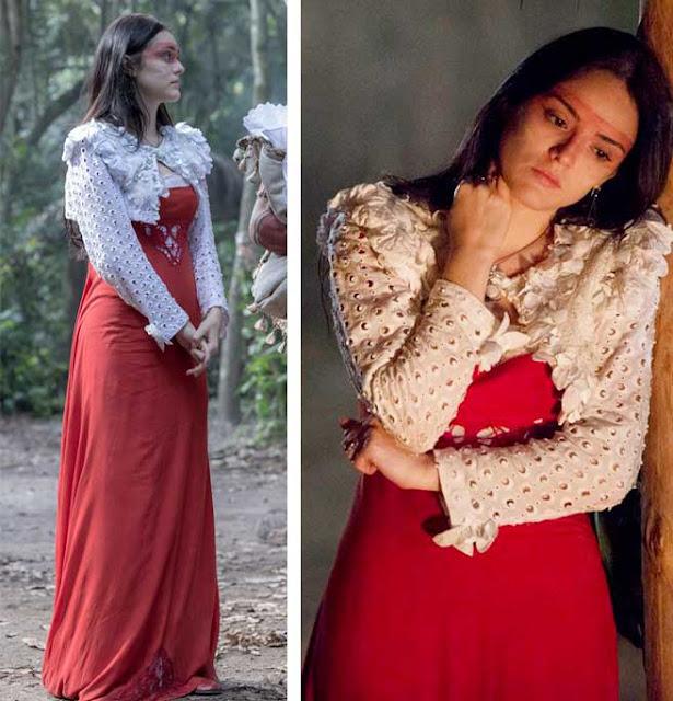 Ana Millman vestido vermelho e branco