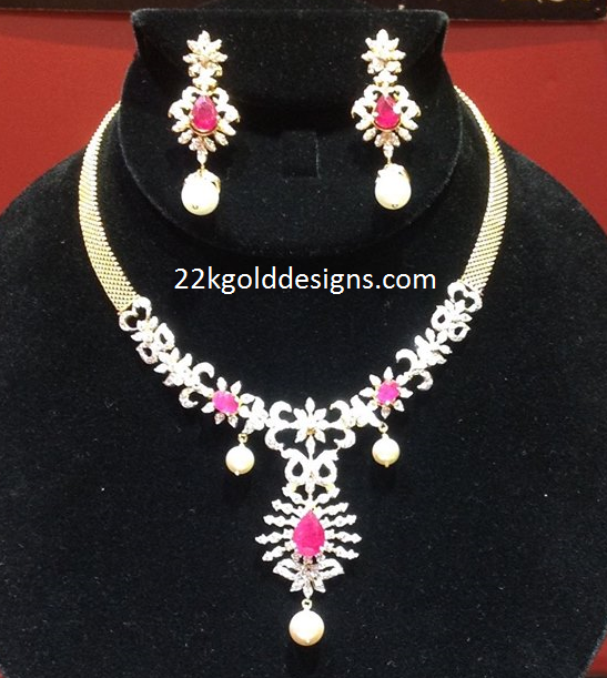 Classic Diamond Necklace and Earrings USA