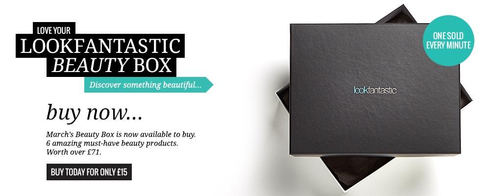 Бегущей строкой: Мартовская коробочка красоты от интернет-магазина Lookfantastic.