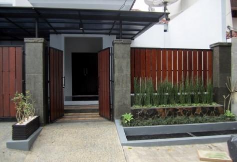 contoh cat pagar rumah minimalis elegan