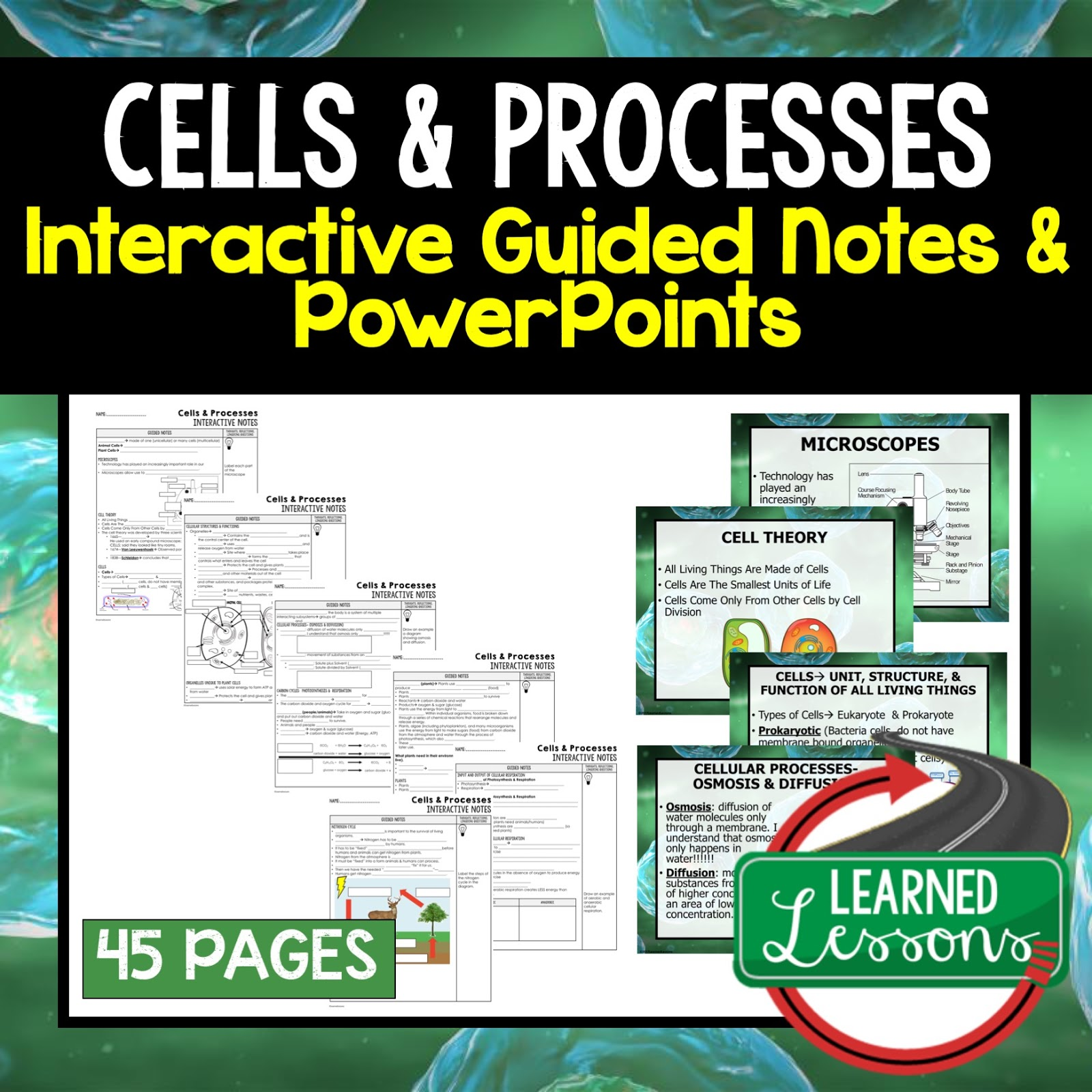 Life Science, Biology Guided Notes and PowerPoints NGSS, Life