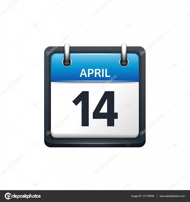 14 de Abril- O dia de hoje na história: fatos e acontecimentos em Elesbão Veloso.