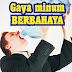 Gaya minum air putih yang buruk untuk kesehatan