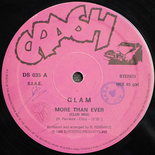Disco Vinyl : More Than Ever by Glam
