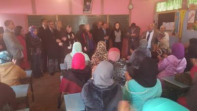 وفد عن الاتحاد الأروبي والوكالة الوطنية لمحاربة الأمية في زيارة لمديرية الفقيه بن صالح