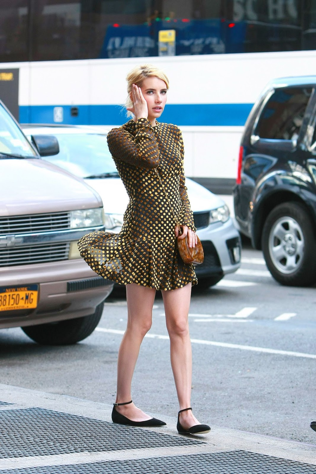 'Nerve' actress Emma Roberts out in New York City