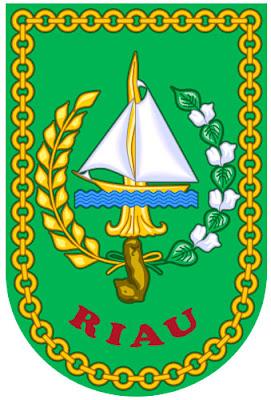 atas empat bab yang berupa gambar atau simbol Lambang Provinsi Riau Lengkap Artinya