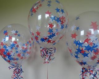 Прозрачные воздушные шарики  с звездачками