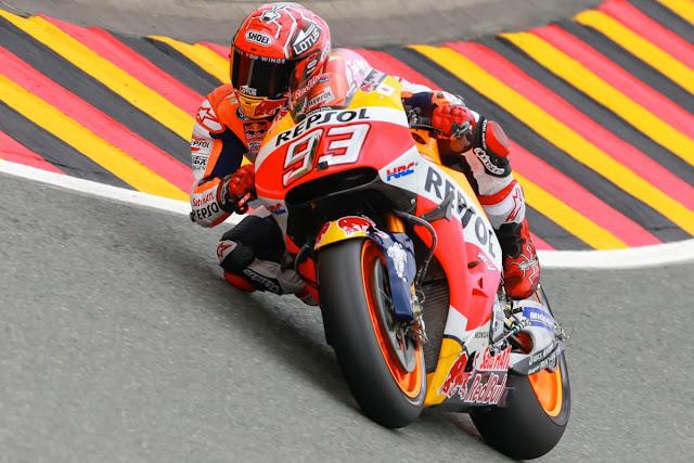 Hasil Kualifikasi MotoGP Sachsenring Jerman : Marquez Pole, Lorenzo 11