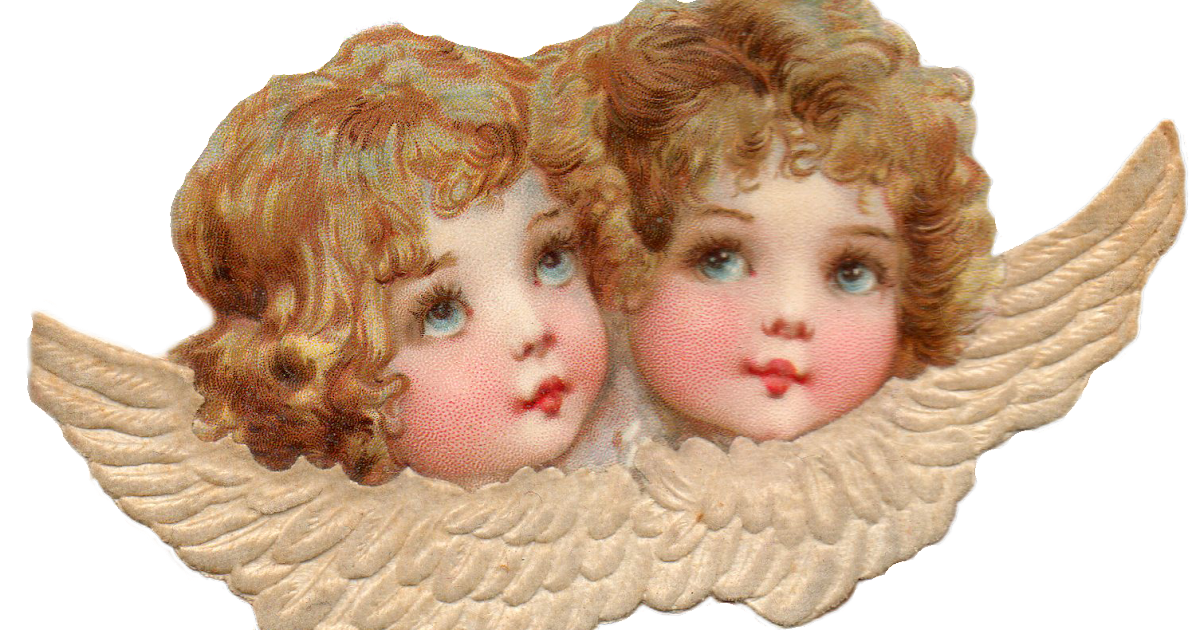 Leaping Frog Designs: Cherubs Angels Lace Free PNG Image ...