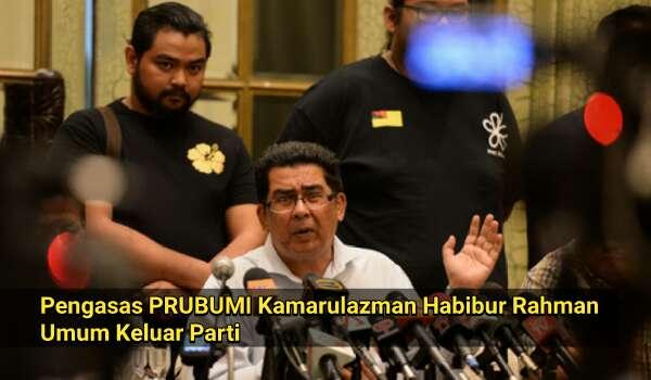 [Video] Pengasas PRIBUMI Kamarulazman Habibur Rahman Umum Keluar Parti