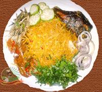 African Salad, Abacha with Ugba (African Salad)