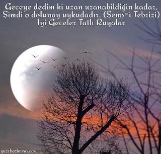 iyi geceler sözleri- iyi geceler mesajı - gece sözleri