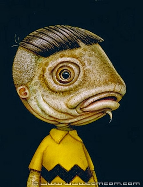 07-Fish-Boy-Naoto-Hattori-Dream-or-Nightmare-Surreal-Paintings-www-designstack-co