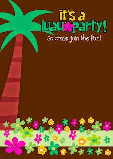 Para hacer invitaciones, tarjetas, marcos de fotos o etiquetas, para imprimir gratis para Fiesta Hawaiana de Niñas.