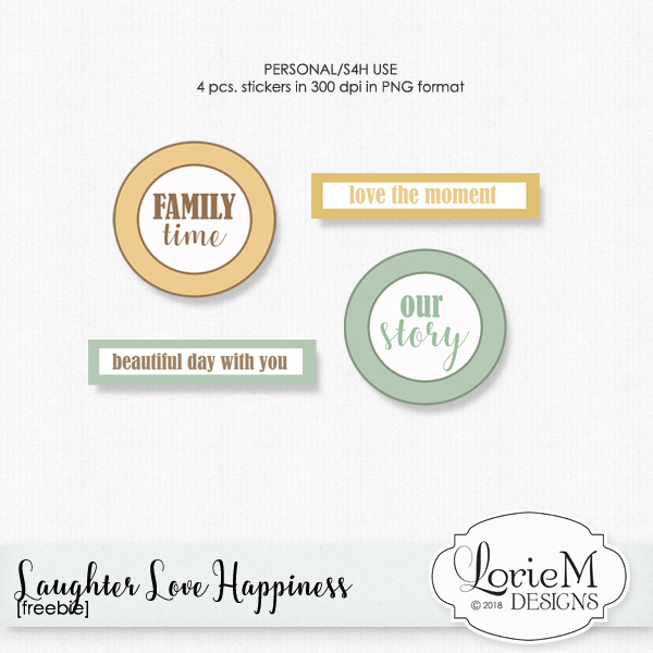 A Quick Reminder, Laughter Love Happiness $1.00 Each + Freebie