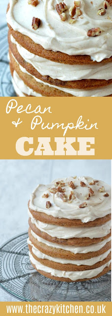 Pumpkin & Pecan Cake with Cream Cheese Frosting